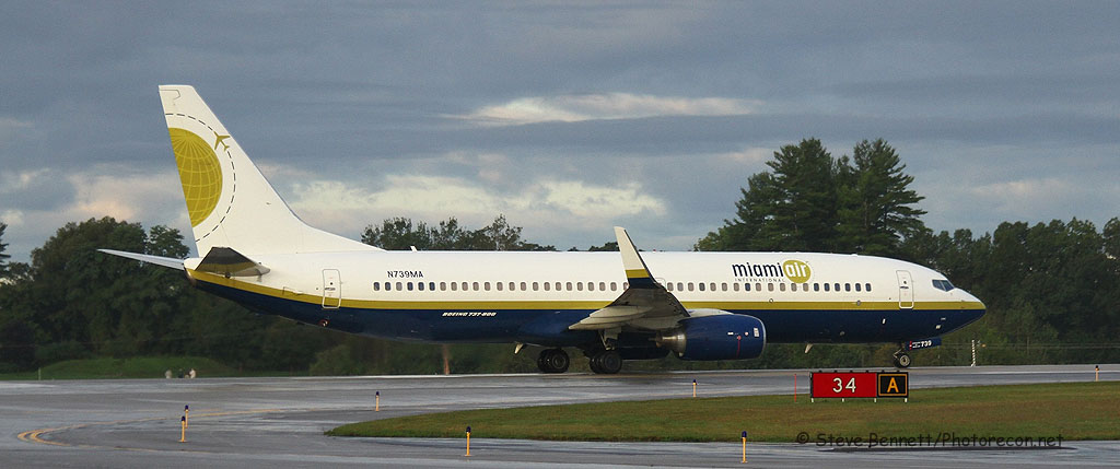 Miami Air, Boeing 737-8Q8, N739MA, at Pease
