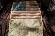Flight Jacket John Slemp 04 A blood chit inside the jacket of Marine Lt Gen RP Keller  Courtesy of the National Naval Aviation Museum in Pensacola Florida 2015 John Slemp