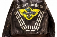 Flight Jacket John Slemp 06 Captain Frederick G. Smiths jacket of the 351st Bomb Squadron 100th Bomb Group 2015 John Slemp