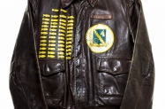 WWII flight jacket of Mr. A.B. Clement.  He was a B-24 top gunner, and flew 50 missions.