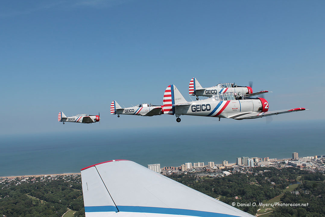 Formation over Virginia Beach