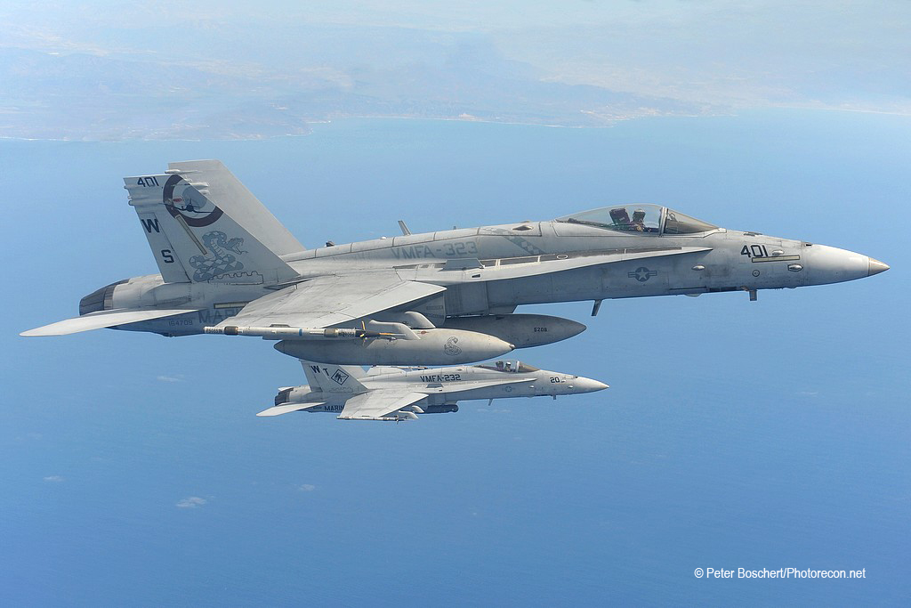 First FA-18C _164709_VMFA-323_03-2016_Tankerflight Westcoast