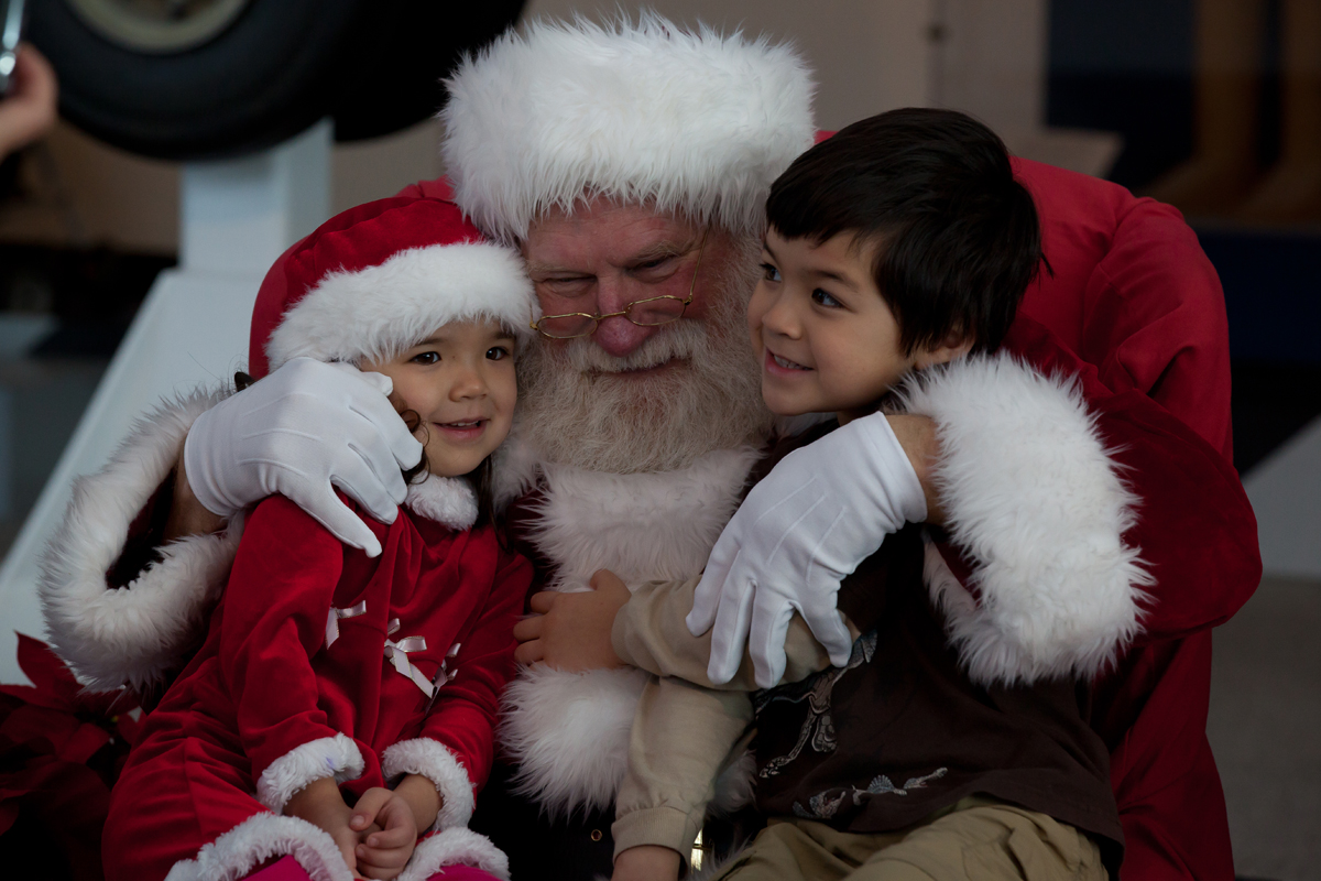 Image result for santa with children