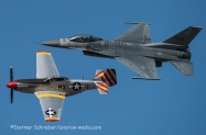 2016-03-11 910376 F16 USAF / N351MX P51 Mustang