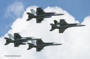Enhc 4 F-18 flyby VFA-32 VFA-105-7517