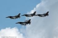 113th F-16 four ship