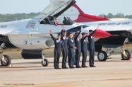 T-Bird pilots post flight wave