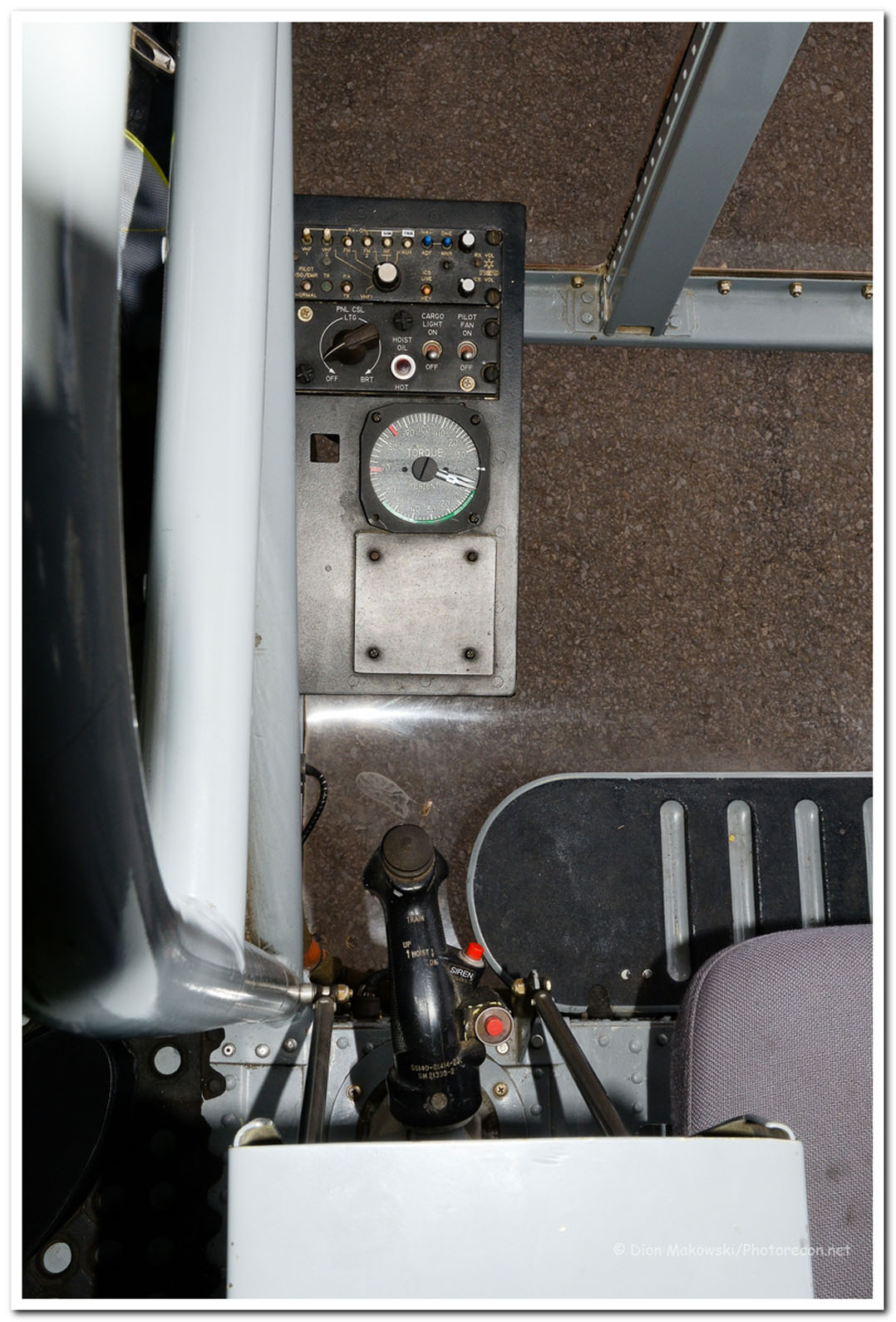 Helitak 341 Rear controls