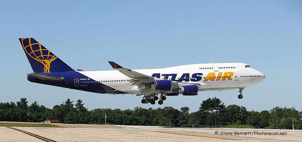 Atlas Air, Boeing 747-446, N464MC, at Pease