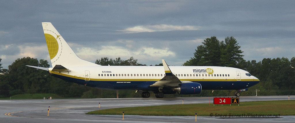 Miami Air, Boeing 737-8Q8, N739MA, at Pease