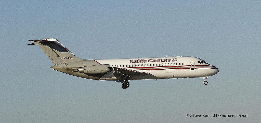1 dc Kalitta Charters II, DC-9-15F (mfg 1967), N917CK, at Pease