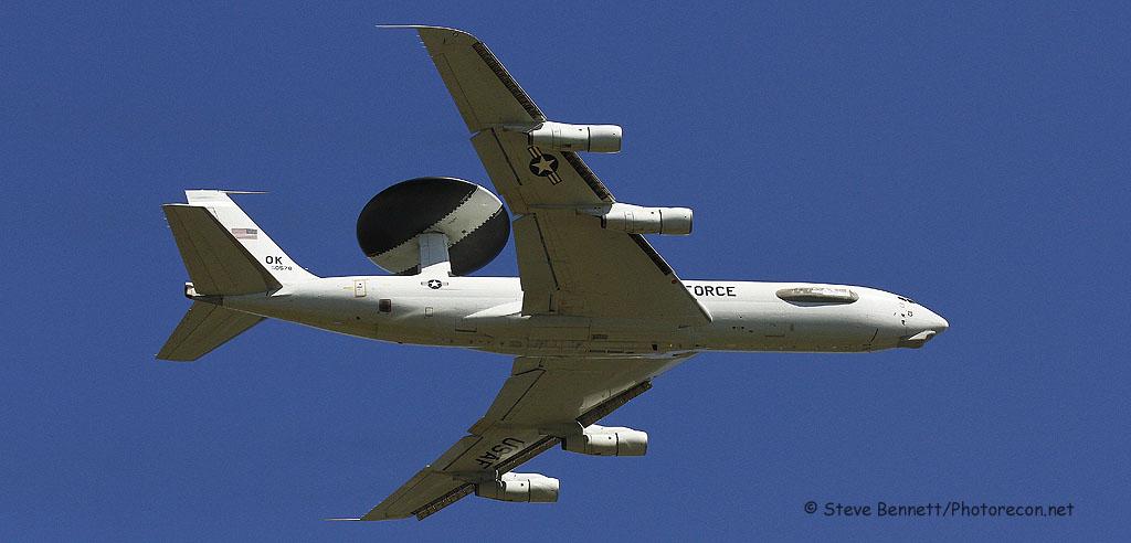 Boeing E-3 Sentry AWACS #78-0578, Pease fly over