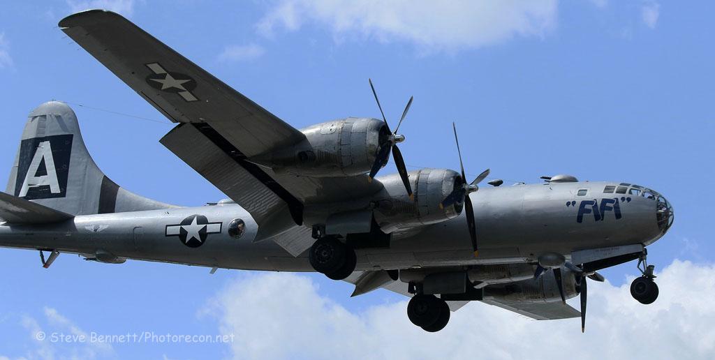 1945 B-29 Superfortress, FIFI, NX529B, in Nashua (7080.2)