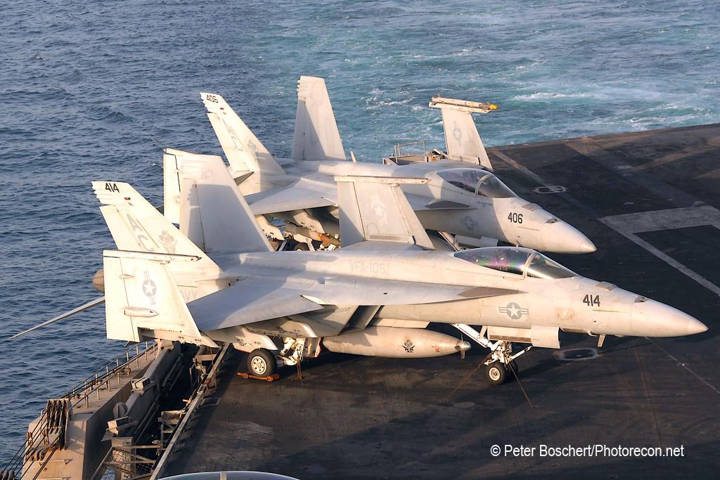 45 FA-18E_166643_VFA-105_AC414_USS Harry S Truman_CVN-75