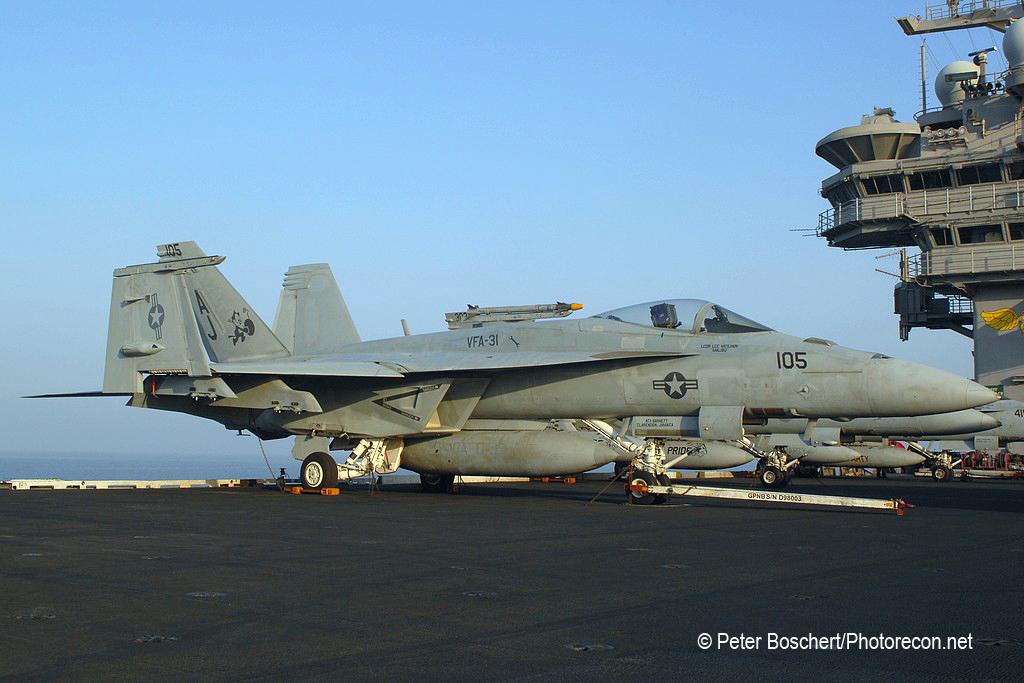 63 FA-18E_166781_VFA-31_AJ105_USS George HW Bush_CVN-77