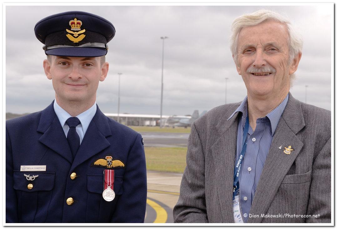 1 Squadron - FLTLT Robertshaw and WG CDR Halvorson