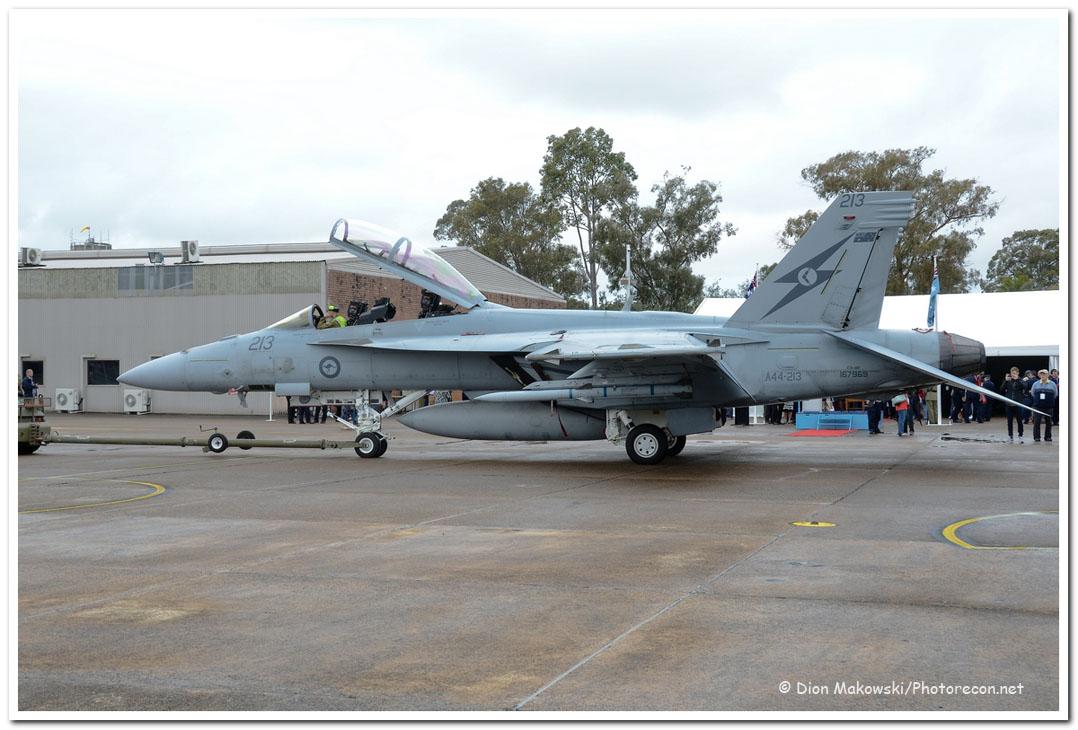 1 Squadron Super Hornet under tow