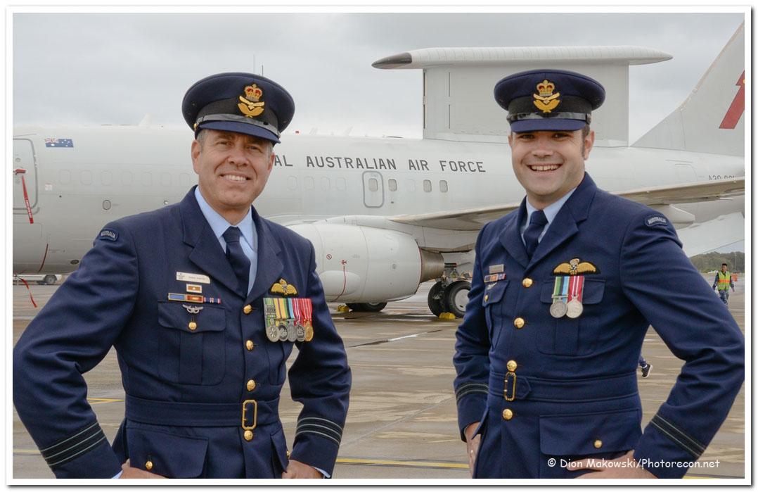 2 Squadron - WGCDR Martin and FLTLT Shelton
