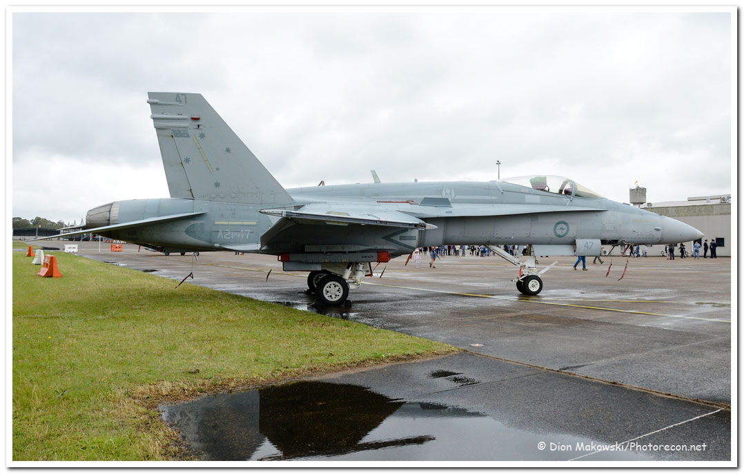 3 Squadron Classic hornet on the ramp