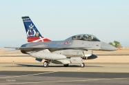 Royal Danish Air Force F-16 based at Edwards AFB