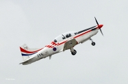 PC-9M Croatian - Wings of Storm Demo Team colors